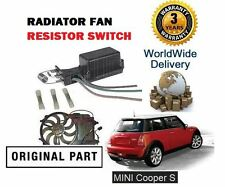 Para Bmw Mini Cooper S 1.6 163bhp 170bhp 2003-2006 Radiador Ventilador resistor Interruptor