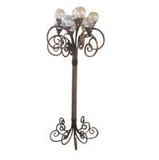 Tall Metal 11 Light Standing Outdoor Lamp Bentwood Style