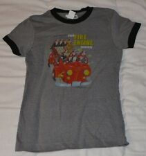 Womens Girls Jrs Little Golden Book The Fire Engine Cover Art T Shirt Medium New