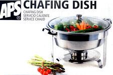 APS Chafing Dish rund VEGGIE Edelstahl mit Glasdeckel Ø 35 cm