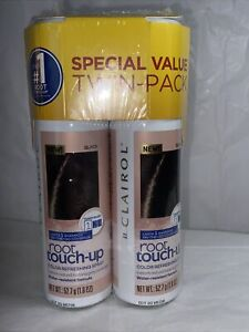 Clairol Root Touch Up Color Refreshing Spray Black 1.8oz SPECIAL VALUE Twin Pack