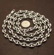 9mm Puffed Gucci Mariner Link Chain Necklace Anti-Tarnish Real Sterling Silver