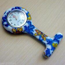 "Nurses Fob Watch Funky New Design Quality Watch Australian Stock ""Hibiscus"""