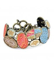 NEW JILZARA Handmade Clay Bead SOUTH BEACH COBBLESTONE TOGGLE Bracelet