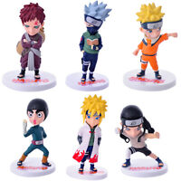 Naruto Gaara  Rock Lee set of 6pcs PVC figure figures doll toy dolls anime