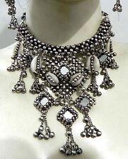 Afghan Belly Dance Kuchi Tribal Mirror Cowries Necklace Jewelry ATS Gypsy Boho