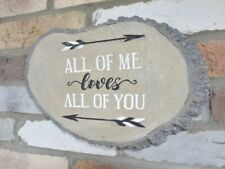 Sign Plaque ALL OF ME LOVES ALL OF YOU Resin Wood Effect *LOVELY GIFT*