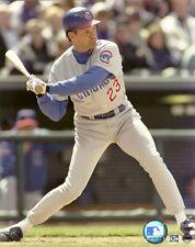 RYNE SANDBERG 8x10 ACTION PHOTO Major League Baseball CHICAGO CUBS (HOF) steiner
