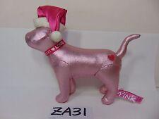 Victoria's Secret Pink Dog Santa Hat Christmas Holiday Plush Toy Stuffed Rare