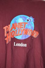 Planet Hollywood London Mens XL T-shirt Short Sleeve Crew Neck Maroon