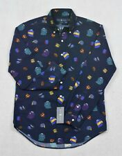 Polo Ralph Lauren Varsity Rugby Print Classic Fit Button Front S M NWT