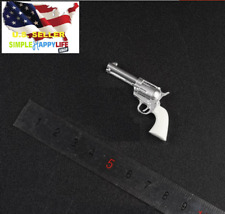 "1/6 Cowboy white Revolver Weapon pistol agent for hot toys 12"" figure ❶USA❶"