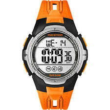 Timex TW5M06800, Men's Marathon Orange Resin Watch, Indiglo, Alarm, Chronograph
