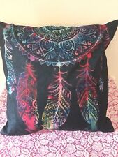 Feather Dream Catcher Black Cushion Cover New zip closure 45 cm Aus seller