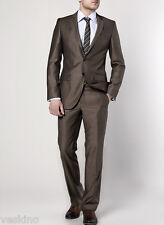 Coletti Herren Anzug 2 teilig Braun-Grau Top Qualität Umtauschrecht NEU gr 44
