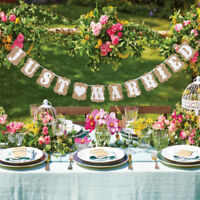 Just Married Butning Banner Wedding Party Hanging Decor Photo Prop 3 Meters