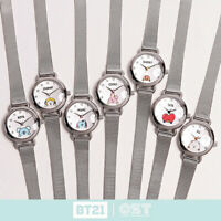 BTS BT21 Official Authentic Goods Silver Mesh Watch by OST 7Characters +Tracking