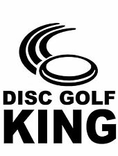 Disc Golf Vinyl Sticker Decal DG King