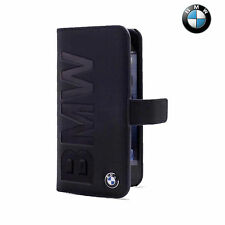 BMW Real Leather Book Type Flip Case for iPhone 6/6S Dark Blue (BMFLBKP6LON)