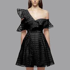 2017 Self Portrait SP V neck hollow petty waist cotton chiffon lace dress#8003