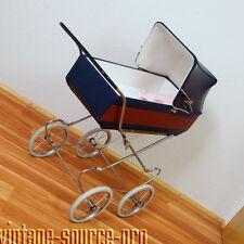 wunderschöner nostalgischer Chrom Kinderwagen Puppenwagen Vintage Retro 70er J.