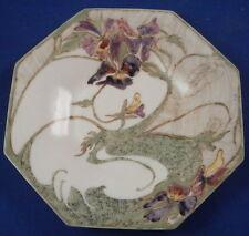 Art Nouveau Rozenburg Porcelain Earthenware Floral Saucer Porzellan Untertasse