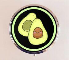 Avocado Pill Box Pillbox Case - Kawaii Cute Cartoon Vegetable Food Stash Box