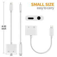 For iPhone X/6/7/8/plus NEW Audio Headphone Adapter Music Charger Cords Splitter