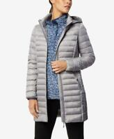 32 Degrees Hooded Packable Down Puffer Coat Smoke Grey UK Small #1 RRP$150.00