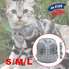 Vest Mesh Soft Puppy Adjustable Dog Cat Pet  Harness New Leash Aus