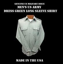 US ARMY MILITARY SERVICE DRESS GREEN LONG SLEEVE UNIFORM SHIRT MEN'S 18.5x34/35