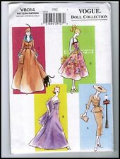 "Vogue 8014 Barbie 11 1/2"" Doll circa 1950s 60s Pattern / Vintage 2004 New Uncut"