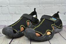 Crocs Swiftwater Mesh Deck Adjustable Lightweight Mens Black Sandals Size 10
