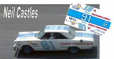 CD_2537  #71 Neil Castles  1967 Plymouth  1:43 scale decals