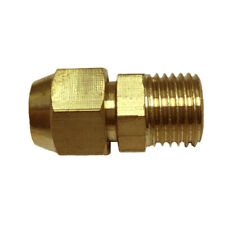 "Brass 1/4"" Male Adapter Connector Thread Fitting Tube with Flaring φ8mm"