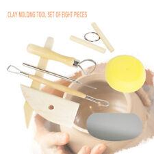 8pcs/ Set Clay Ceramics Molding Tools Wood Knife Pottery Tool Practi lwUnusjaus