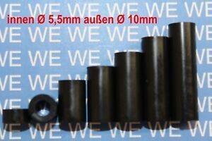 5,5mmØ Kunststoff DISTANZHÜLSEN - DISTANZBOLZEN - DISTANZROLLEN - ABSTANDSHALTER
