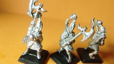 (C515)GW WARHAMMER  HIGHT ELF WHITE LIONS OF CHRACE x3 METAL USED OOP