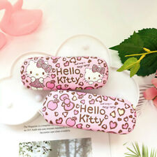 Cute Hello Kitty Hard Shell Glasses Eyeglass Case Box PU Leather Protector Cover