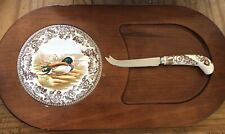 Spode Woodland Cheese Board and Knife Set - Rare!
