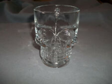 Clear Glass Skull Face Drinking Mug Cup Handle Glassware Beer Juice Water