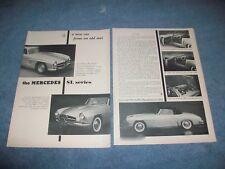 "1954 Mercedes-Benz 300SL 190SL Vintage Info Article ""A New Car from an Old Star"""