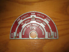 Delta Rockwell 11 Metal Lathe Variable Speed Chart
