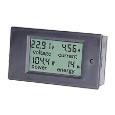 Meter with LCD Digital Display Voltage Power Energy Current Range DC 0-20A