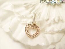 Authentic Pandora ROSE GOLD SYMBOL OF LOVE Heart Pave Dangle Charm 791357 RETIRE