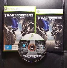 Transformers The Game (Microsoft Xbox 360, 2007) Xbox 360 Game - FREE POST