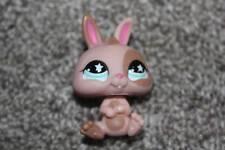 Littlest Pet Shop Bunny #827 Cream Tan Rabbit LPS Toy Teal Star Eyes Hasbro 2007