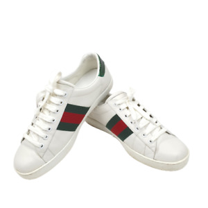 Mens Gucci Ace Bee Embroidered Sneakers Shoes, Size 8