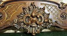 Scroll leaf shell wood carving pediment Atinque french architectural salvage
