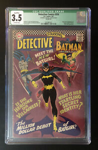 Detective Comics 359 CGC 3.5 OW Qualified First Appearance Of Batgirl! LOOK!!